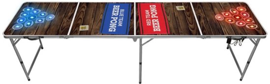Beer Pong Bord: Official Med LED Lys, Deluxe Gadgets