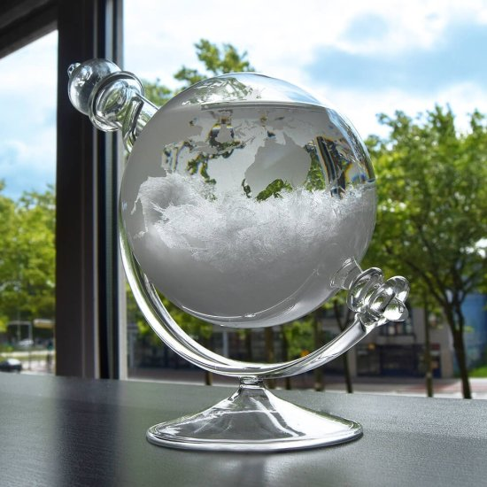Tempo Globe Weather Forecasting Storm Glass Gadgets