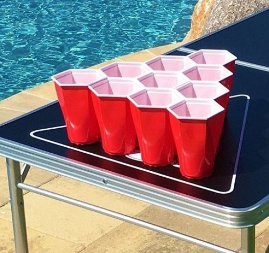 22x Orignal Cup: Square Cups Beer Pong Kit Gadgets