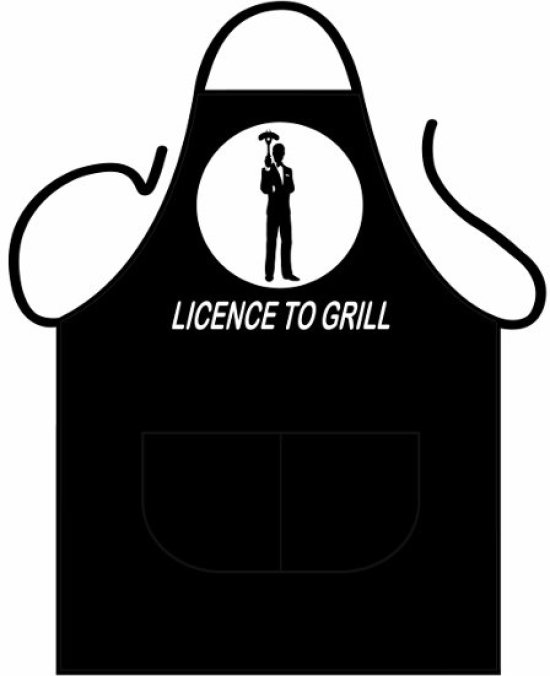 Black Apron Deluxe - Licence to Grill Gadgets